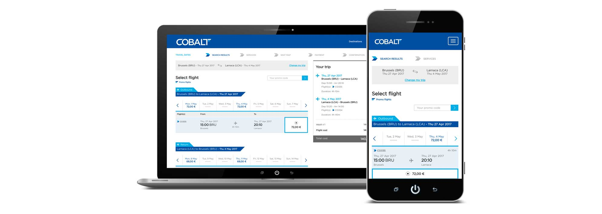 Cobalt, Cyprus' new national carrier, starts ticket sales through new internet booking engine, implemented by Newshore